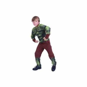Foute groen gespierd monster party kleding voor kids