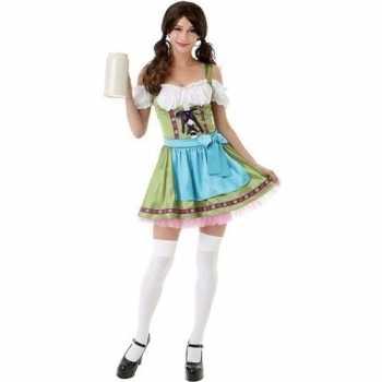 Foute groen oktoberfest jurkje/dirndl party kleding voor dames