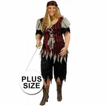 Foute grote maat dames piraten party kleding