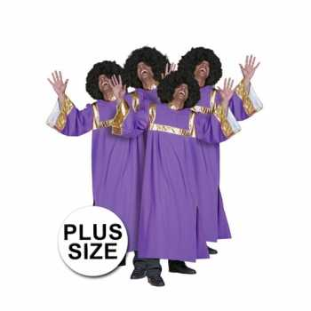 Foute grote maat gospel party kleding