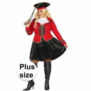 Foute grote maat kapitein piraat grace pak/party kleding voor dames