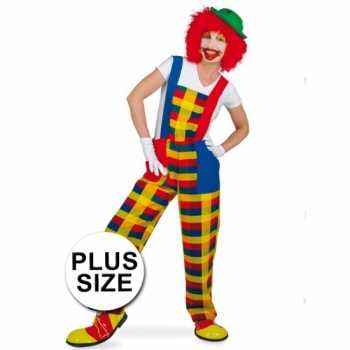 Foute grote maten clown pebbi party kleding voor volwassenen