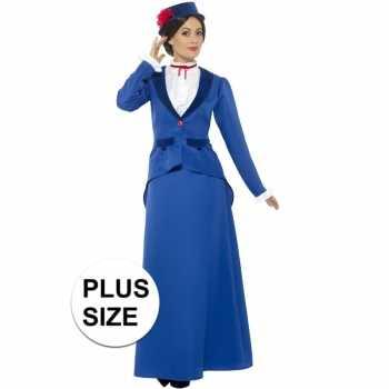 Foute grote maten victoriaanse kinderjuffrouw party kleding voor dame