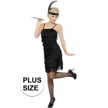 Foute grote maten zwart flapper jaren 20 party kleding voor dames