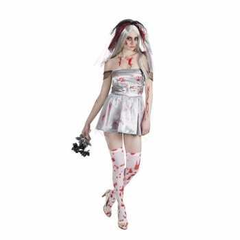 Halloween Kleding Dames.Foute Halloween Bloederige Bruid Dames Party Kleding