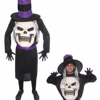 Foute halloween doodskop halloween met hoed party kleding voor heren