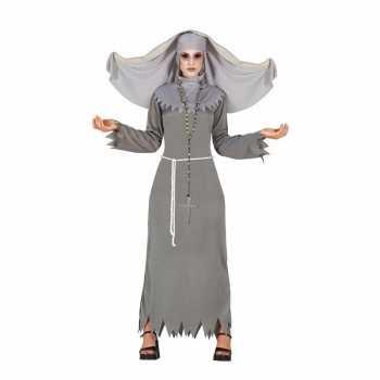 Foute halloween grijze geest nonnen party kleding voor dames