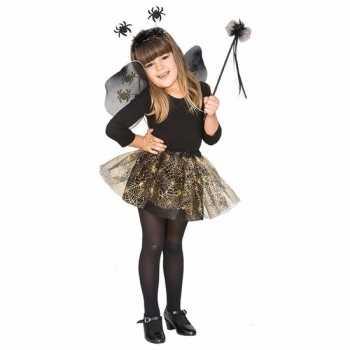 Foute halloween halloween party kleding heksenset zwarte spin voor me