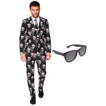 Foute halloween heren party kleding maat 56 (xxxl) met gratis zonnebr