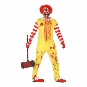 Foute halloween horror clown ronald party kleding voor heren