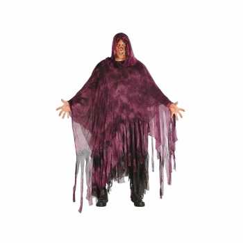 Foute halloween horror duistere man party kleding paars