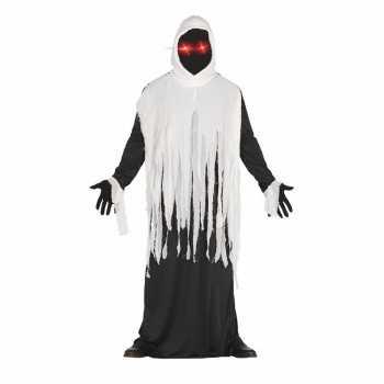 Foute halloween horror spook party kleding met lichtgevende ogen