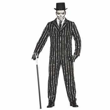 Foute halloween luxe 3 delig skeletten party kleding voor heren