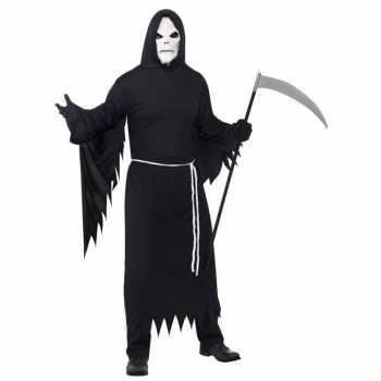 Foute halloween party kleding magere hein met masker voor volwassenen