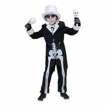 Foute halloween skelet party kleding voor jongens