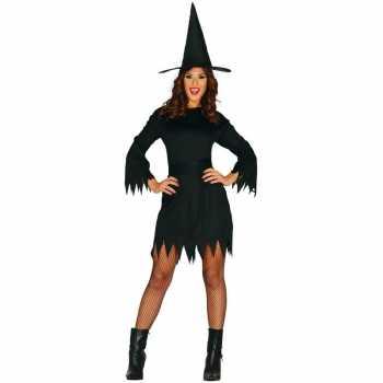 Foute halloween zwart heksen party kleding budget voor dames