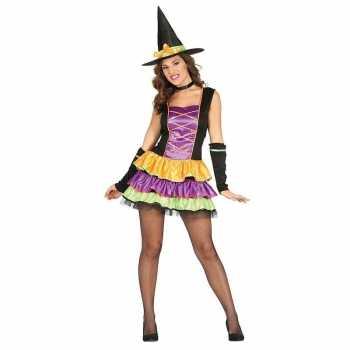 Foute halloween zwart heksen party kleding voor dames