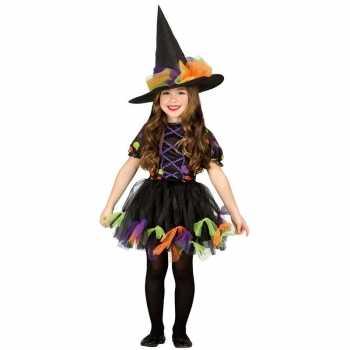 Foute halloween zwart heksen party kleding voor meisjes