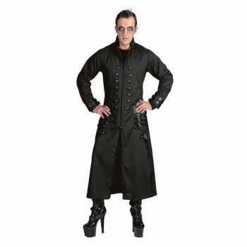 Foute halloween zwarte gothic/vampier jas party kleding voor heren