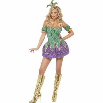 Foute harlekijn dames party kleding met pailletten