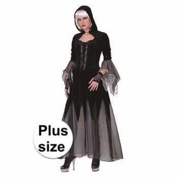 Foute heksen party kleding jurk zwart