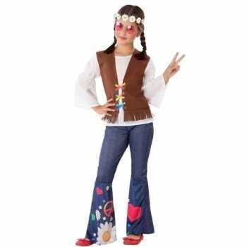 Foute hippie/flower power party kleding voor meisjes