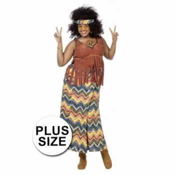 Foute hippie party kleding grote maat