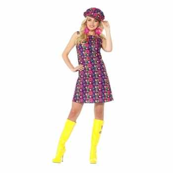 Foute hippie peace sixties party kleding voor dames