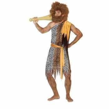 Foute holbewoner/caveman alley party kleding heren
