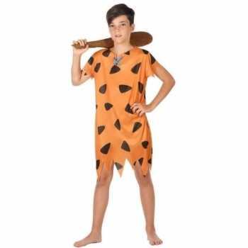 Foute holbewoner/caveman fred party kleding voor jongens
