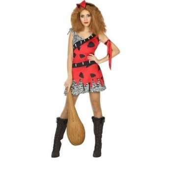 Foute holbewoonster/cavewoman loana party kleding/jurk dames