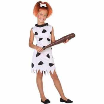 Foute holbewoonster/cavewoman wilma party kleding/jurk voor meisjes