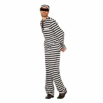 Foute inbreker party kleding zwart/wit voor heren