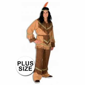 Foute indianen party kleding in grote maten