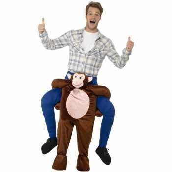 Foute instap dierenpak party kleding aap voor volwassenen