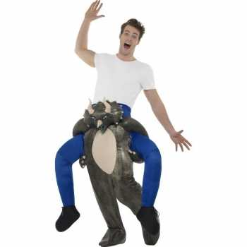 Foute instap dierenpak party kleding dinosaurus voor volwassenen