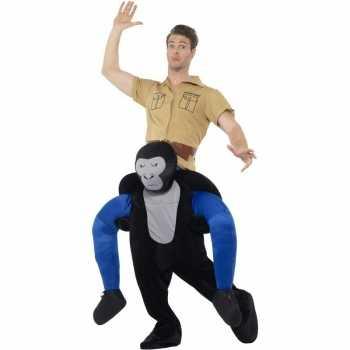 Foute instap dierenpak party kleding gorilla voor volwassenen
