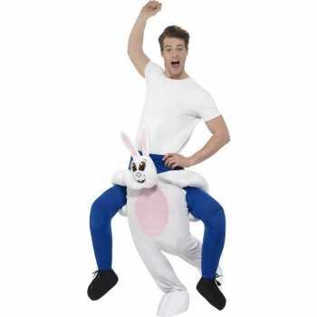 Foute instap dierenpak party kleding konijn/haas voor volwassenen