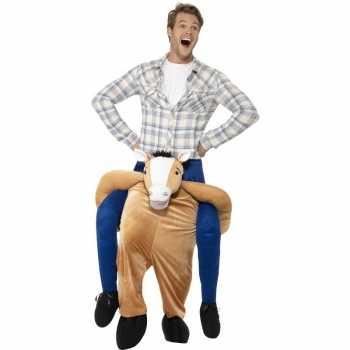 Foute instap dierenpak party kleding paard voor volwassenen