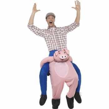 Foute instap dierenpak party kleding varken voor volwassenen