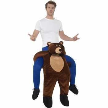 Foute instap dierenparty kleding beer voor volwassenen