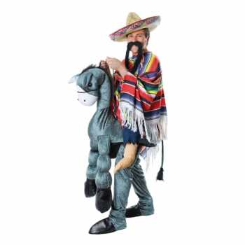 Foute instap party kleding mexicaan op ezel