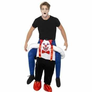 Foute instapparty kleding enge horror clown voor volwassenen