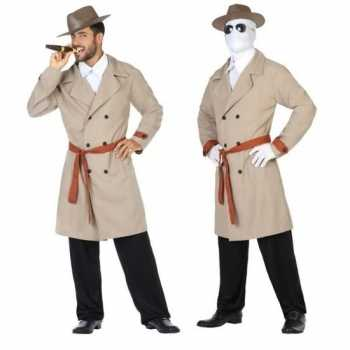 Foute invisible man/detective pak/party kleding voor heren