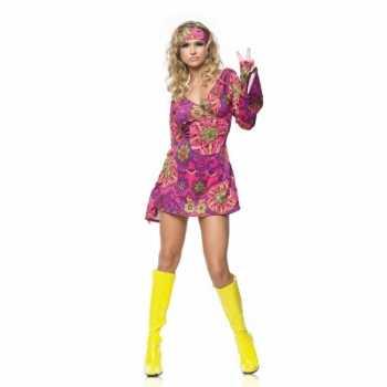 Foute jaren 60 party kleding met haarband