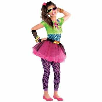 Foute jaren 80 disco party kleding feestparty kleding voor meisjes 10