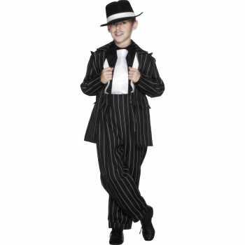 Foute jongens gangster party kleding zwart