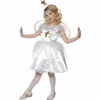 Foute kerststal party kleding engel jurkje