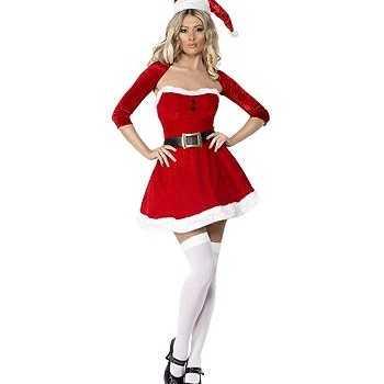 Foute kerstvrouw jurkje met bolero party