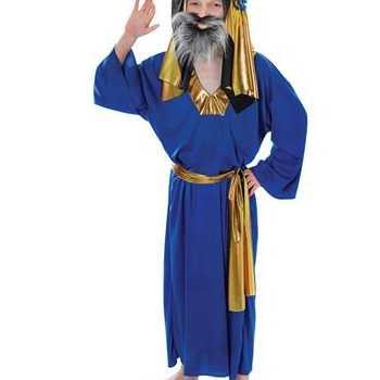 Foute kids kerst party kleding drie wijzen uit het oosten